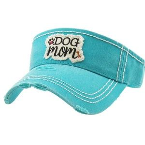 """Dog Mom"" Vintage Style Sun Visor"